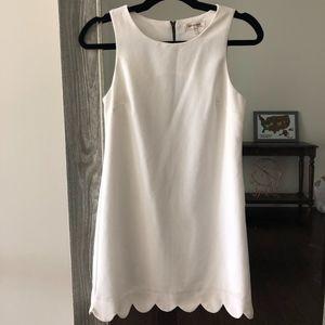 Scalloped Monteau Dress
